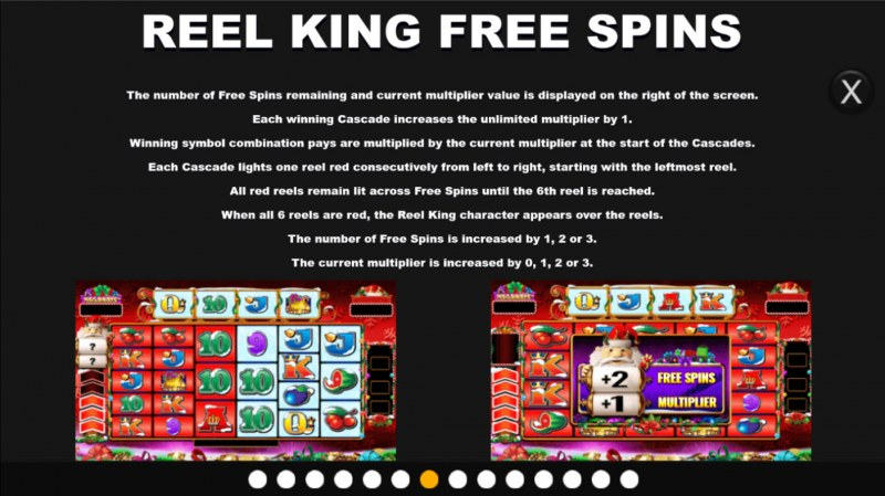 Santa King Megaways :: Free Spin Feature Rules