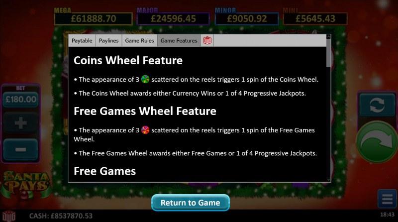 Santa Pays :: Coins Wheel Feature