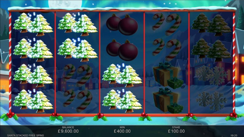 Santa Stacked Free Spins :: Multiple winning paylines