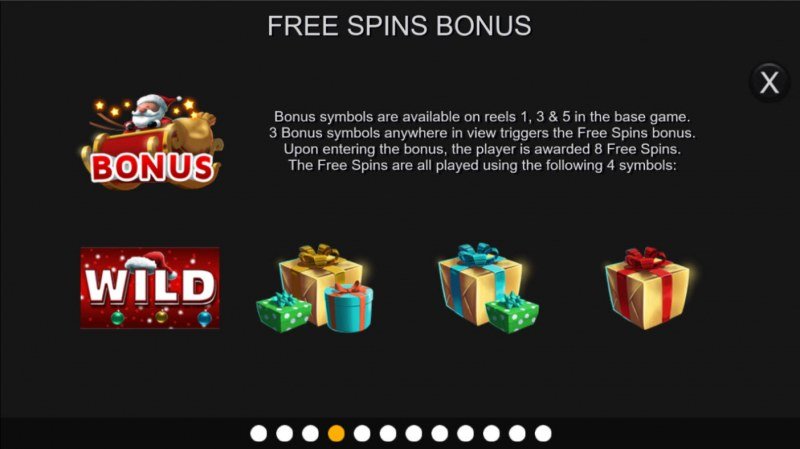 Santa Stacked Free Spins :: Scatter Symbol Rules