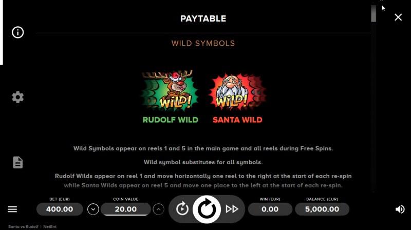 Santa vs Rudolf :: Wild Symbols Rules