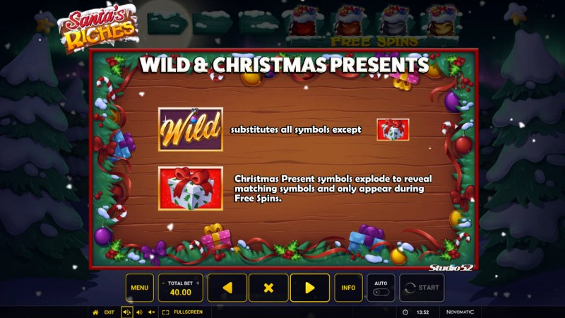Santa's Riches :: Wild and Scatter Rules