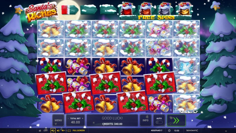 Santa's Riches :: A five of a kind win