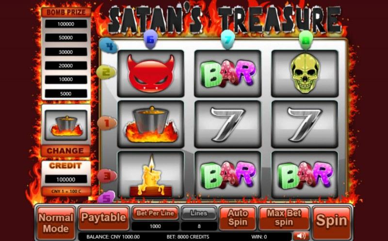Satan's Treasure :: Main Game Board