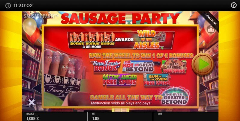 Sausage Party :: Bonus Game Rules