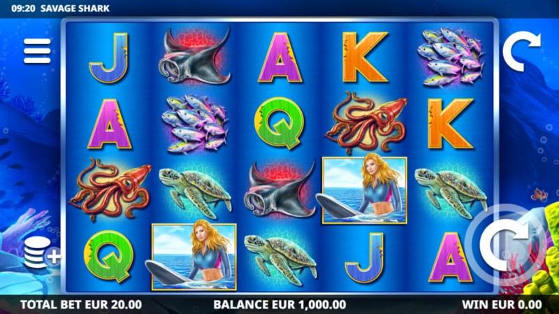 Savage Shark :: Base Game Screen