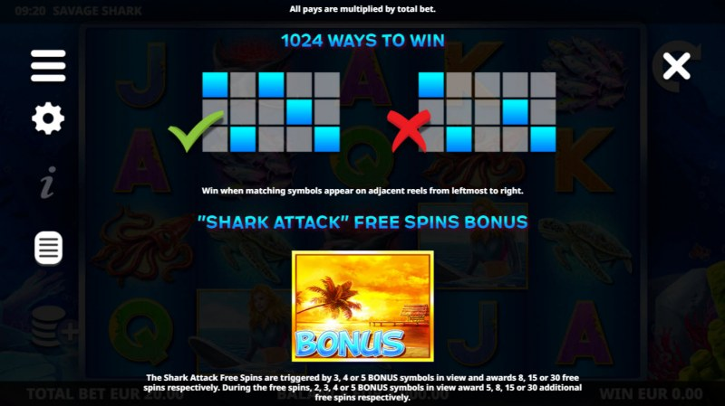 Savage Shark :: 1024 Ways to Win