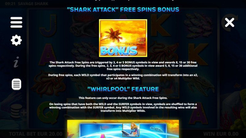 Savage Shark :: Free Spin Feature Rules