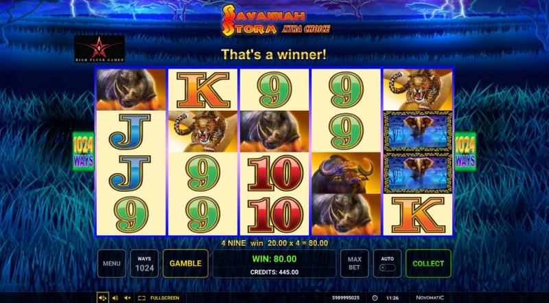 Savannah Storm :: A four of a kind win