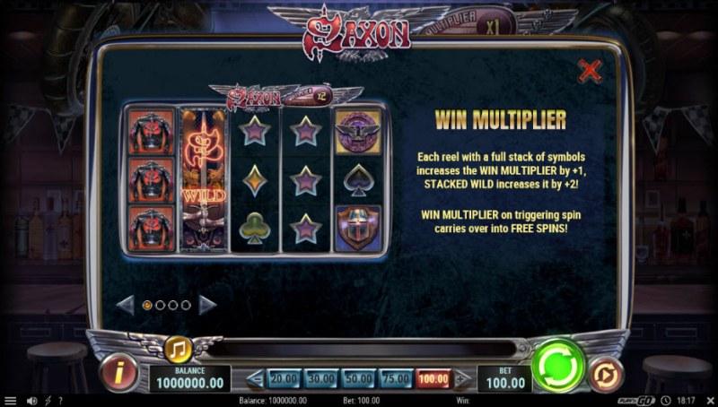 Saxon :: Win Multiplier
