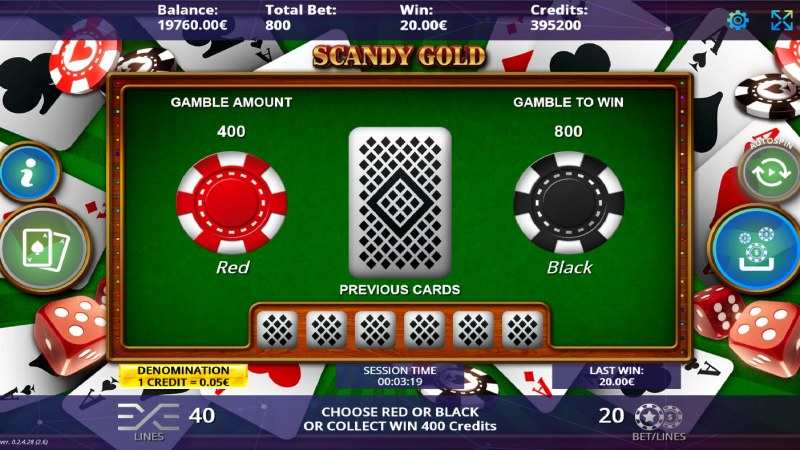 Scandy Gold :: Gamble feature