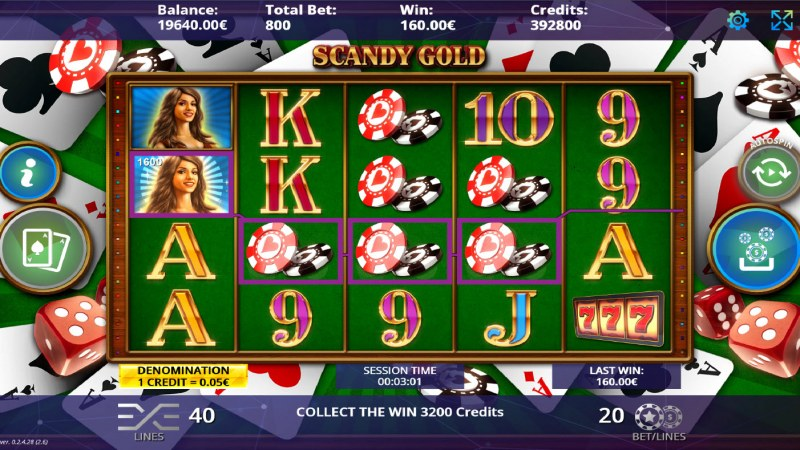 Scandy Gold :: A four of a kind win