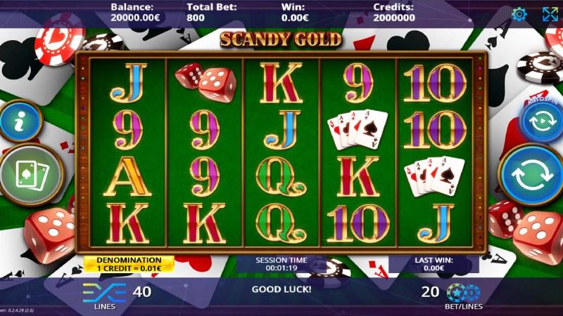 Scandy Gold :: Main Game Board