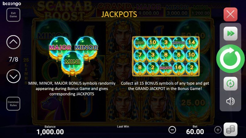 Scarab Boost Hold and Win :: Jackpot Rules