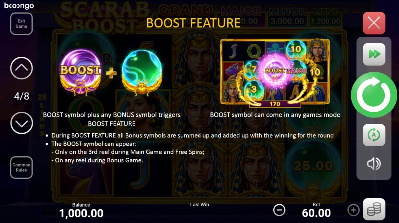Scarab Boost Hold and Win :: Boost Feature