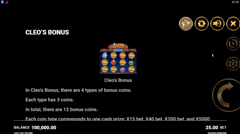 Scarab Kingdom :: Cleo's Bonus