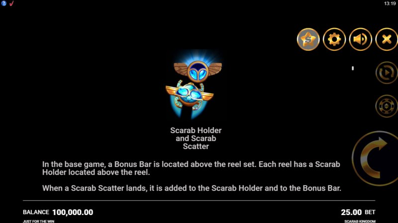 Scarab Kingdom :: Scatter Symbol Rules