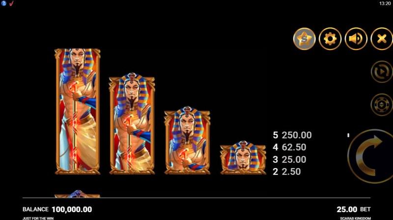 Scarab Kingdom :: Paytable - Medium Value Symbols