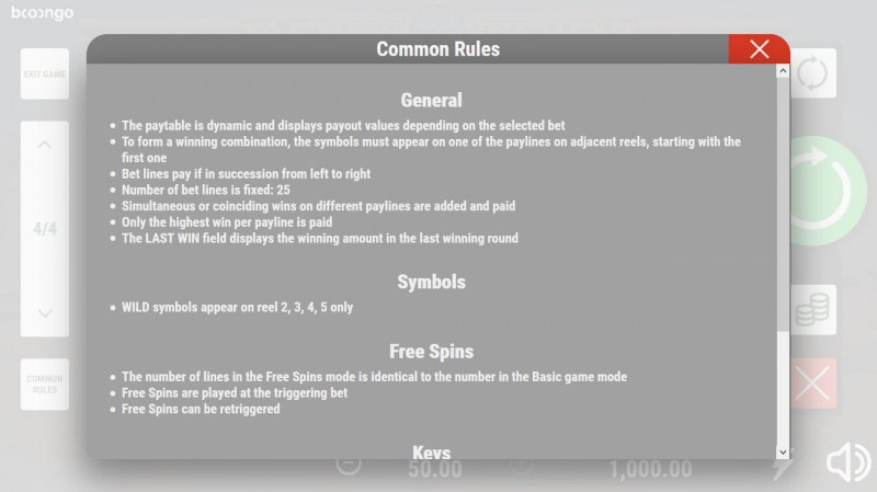 Scarab Riches :: General Game Rules