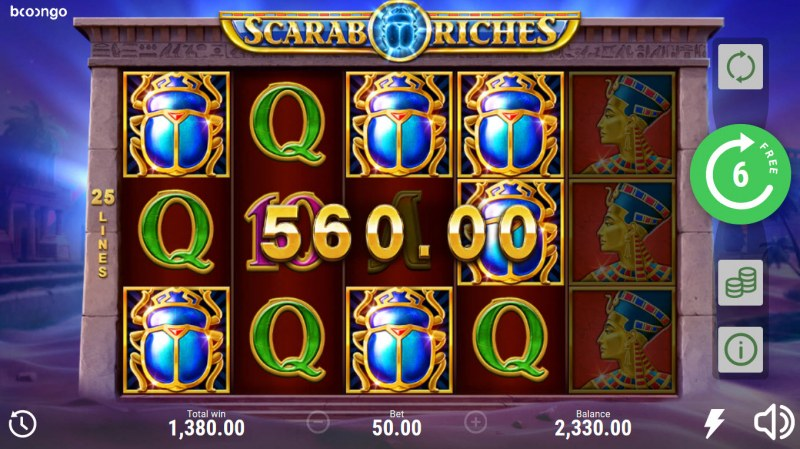 Scarab Riches :: Multiple winning combinations
