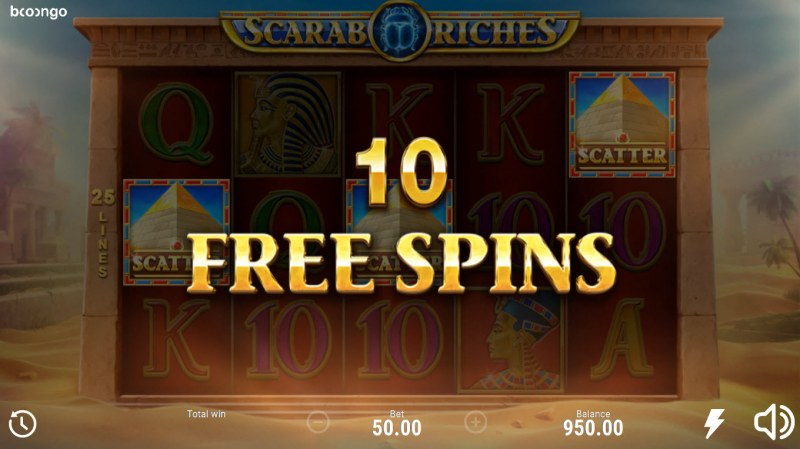 Scarab Riches :: 10 free spins awarded