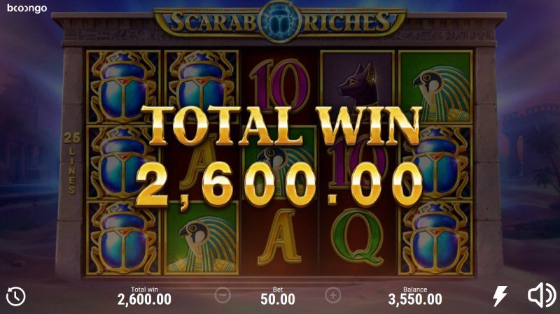 Scarab Riches :: Total Free Spins Payout