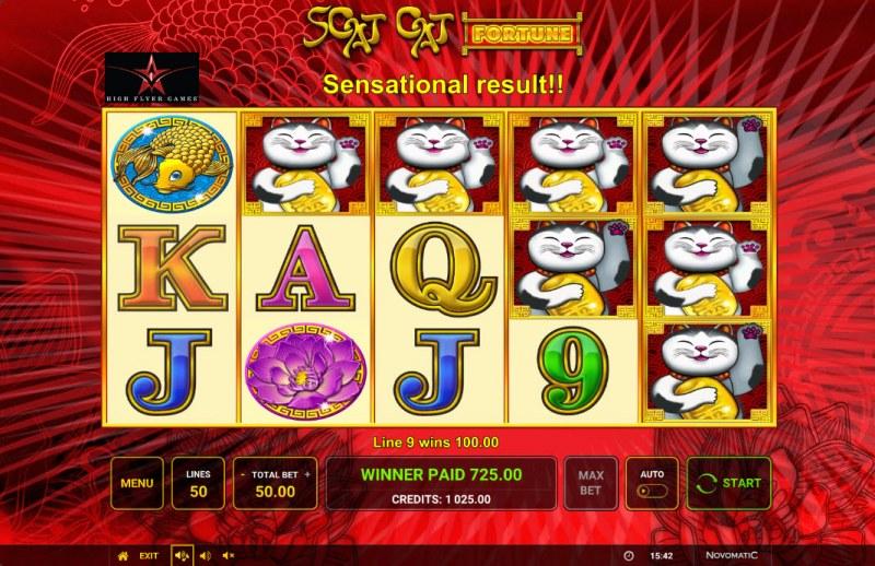 Scat Cat Fortune :: Multiple winning paylines