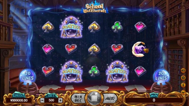 School of Witchcraft :: Scatter symbols triggers bonus feature