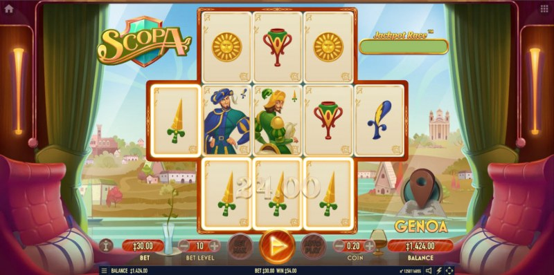 Scopa :: A four of a kind win