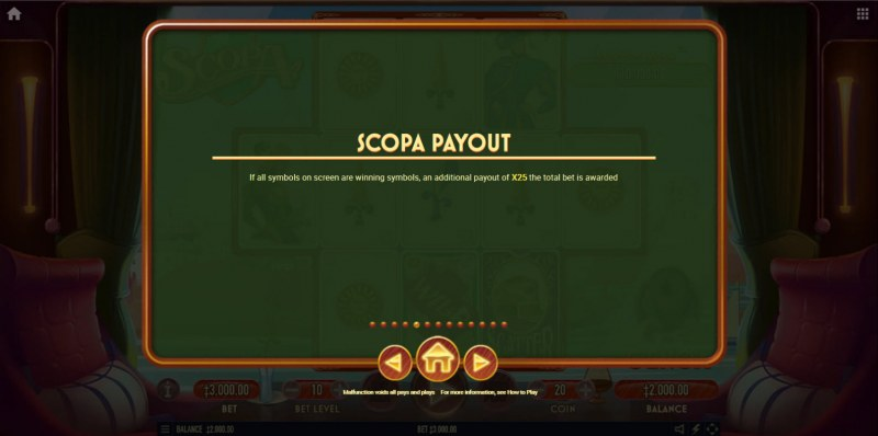 Scopa :: Scopa Payout