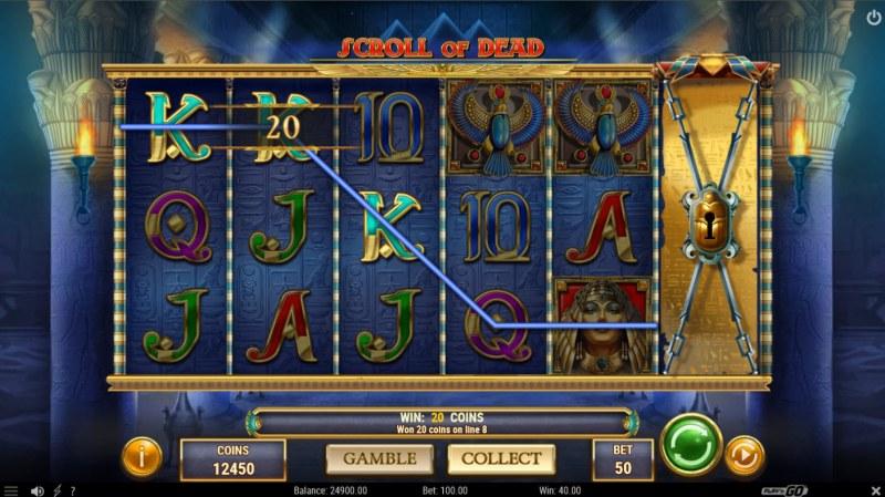 Scroll of Dead :: A three of a kind win