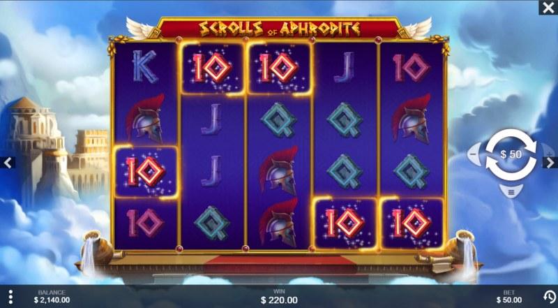 Scrolls of Aphrodite :: A five of a kind win