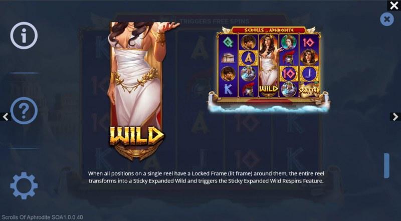 Scrolls of Aphrodite :: Wild Symbol Rules