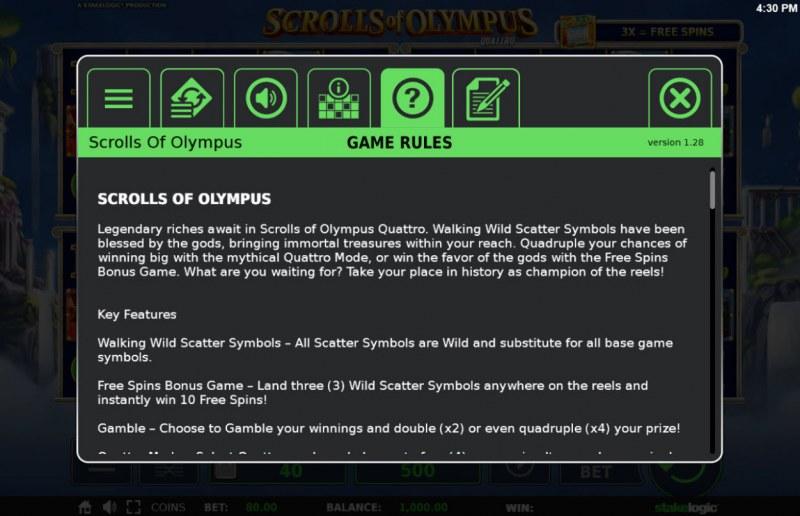 Scrolls of Olympus :: General Game Rules