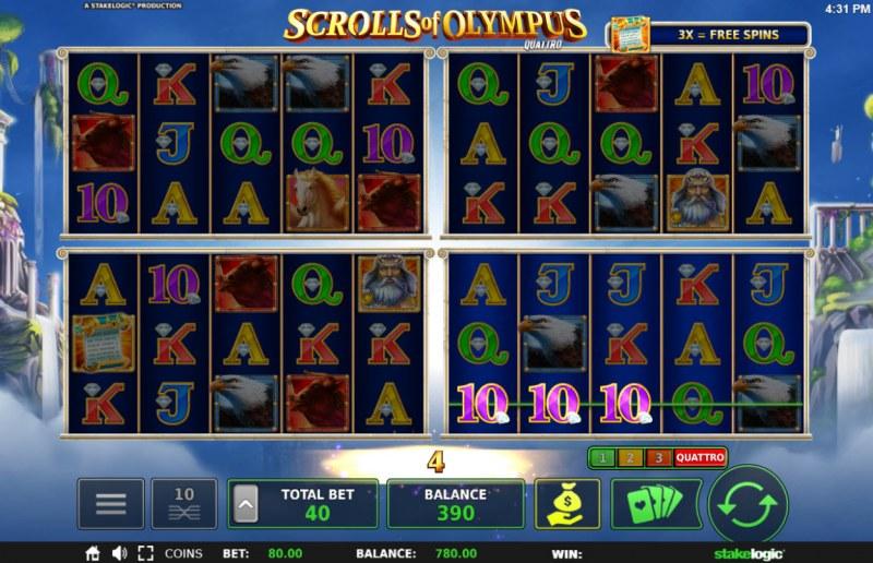 Scrolls of Olympus :: Three of a kind