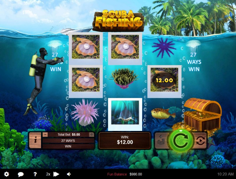 Scuba Fishing :: Multiple winning combinations