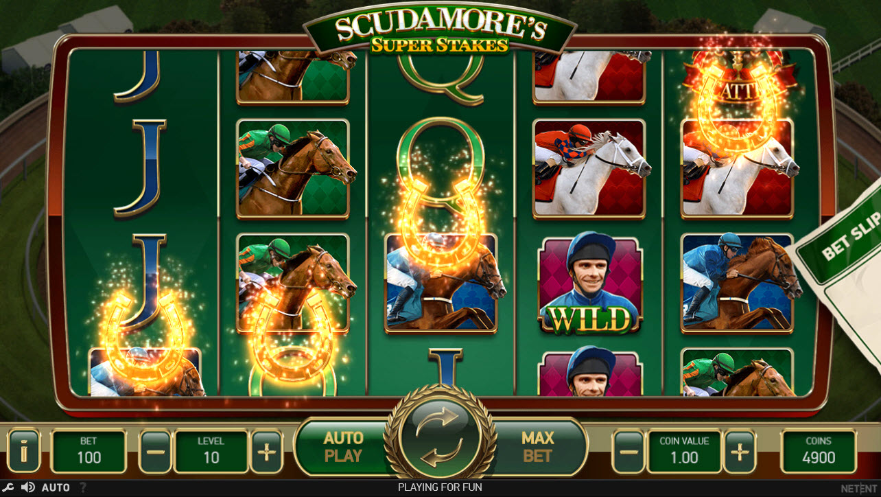 Play slots at Sun Play: Sun Play featuring the Video Slots Scudamore's Super Stakes with a maximum payout of $50,000