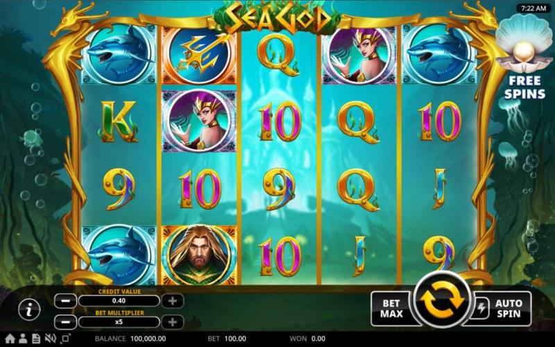 Sea God :: Base Game Screen