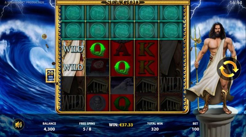 Sea God :: Free Spins Game Board