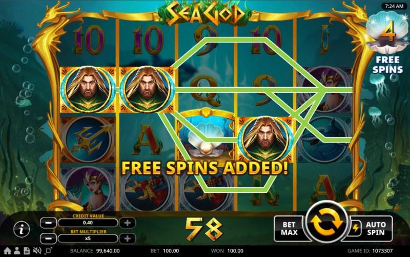 Sea God :: Free Spins Added