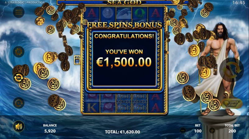 Sea God :: Total Free Spins Payout