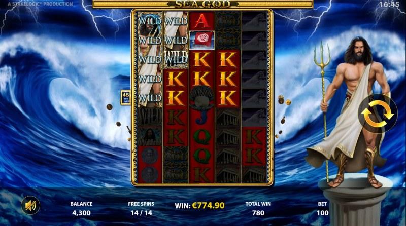 Sea God :: Multiple winning combinations