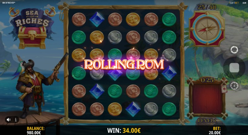 Sea of Riches :: Rolling Rum Modifier triggered