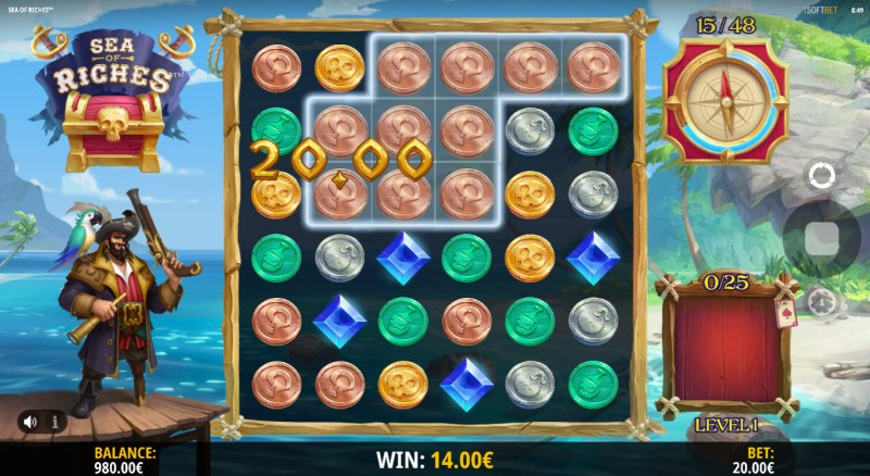 Sea of Riches :: Multiple winning combinations