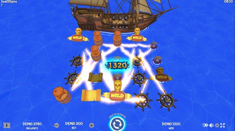 Sea of Spins :: Multiple winning combinations lead to a big win