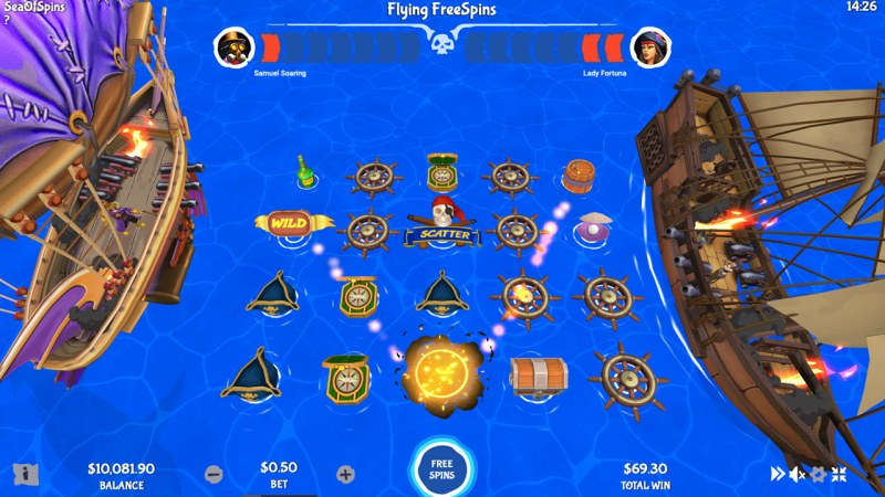 Sea of Spins :: Flying Free Spins