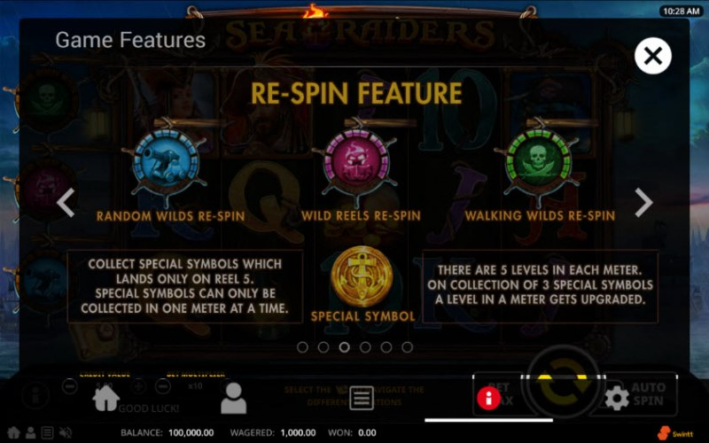 Sea Raiders :: Re-Spin Feature