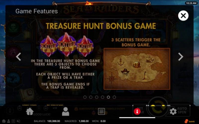 Sea Raiders :: Treasure Hunt Bonus Game