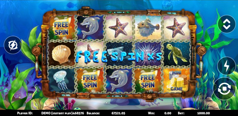 Sea World :: Scatter symbols triggers the free spins bonus feature