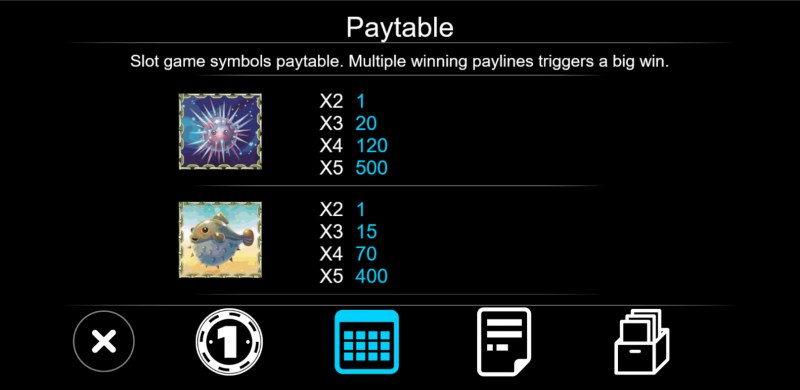 Sea World :: Paytable - Medium Value Symbols